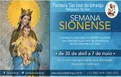 Semana Sionense – Paróquia São José do Ipiranga